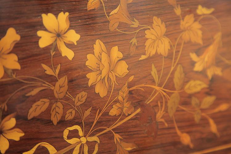 Steinway floral inlay detail