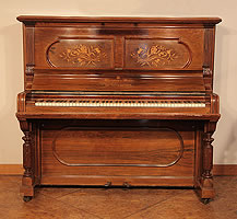 Antique, Steinway Upright Piano For Sale with a Rosewood Case with Inlaid Panels