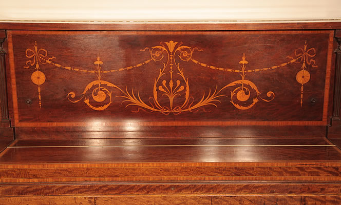 Steinway  upright  piano inlaid panel