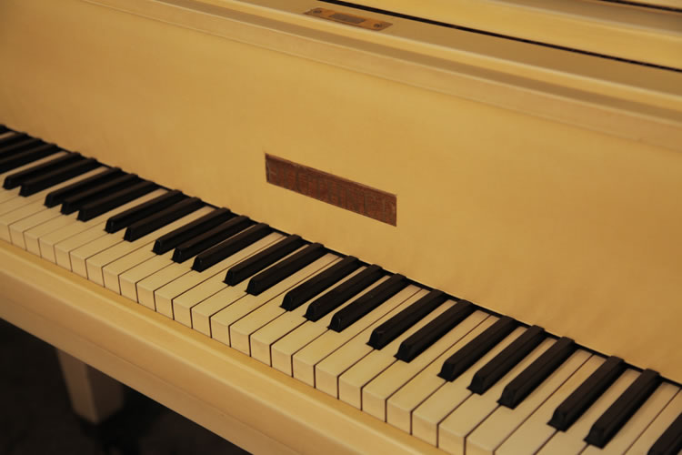 Bluthner Grand Piano For Sale With A Satin Ivory Case And