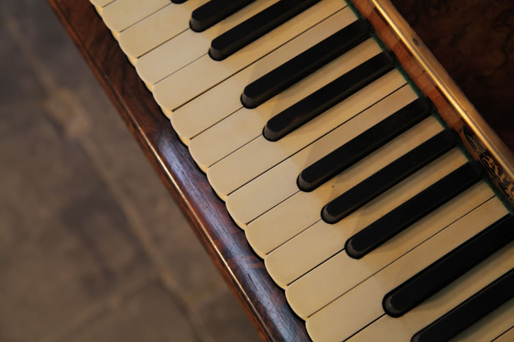 Burling & Burling piano keyboard with scallop shaped keys