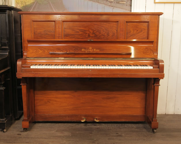 A 1901, Steinway Vertegrand Upright Piano For Sale with a Rosewood Case.