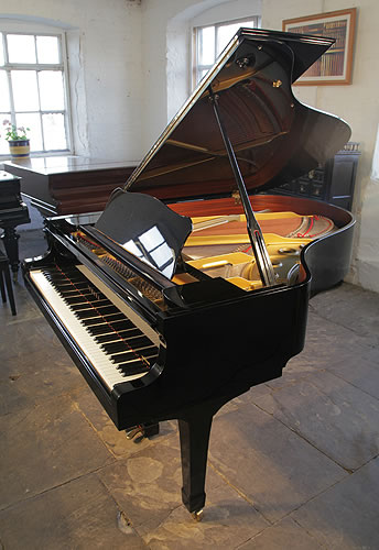 Yamaha C3 grand Piano for sale with a black case and polyester finish.