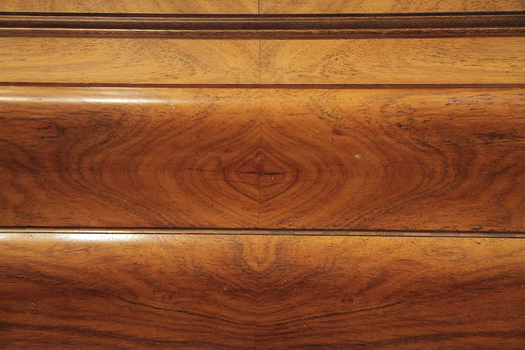 Bord Upright Piano With A Quartered Walnut Case Cabinet