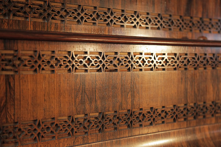 Broadwood fretwork detail on front panel