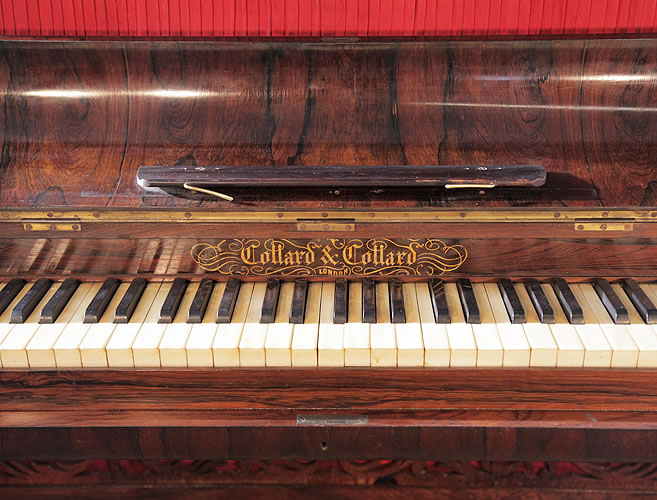 Collard And Collard Upright Piano With A Rosewood Case