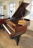 An unrestored, 1893, Steinway Model A grand piano for sale with a rosewood case and spade legs