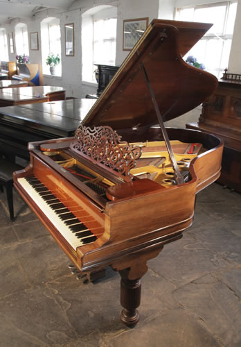 An unrestored, 1894, Steinway Model A Grand piano for sale with a rosewood case, filigree music desk and fluted, barrel legs
