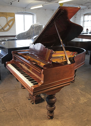 An unrestored, Steinway Model A Grand piano for sale with a rosewood case  and stacked cup and cover legs
