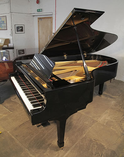 Yamaha C7 grand Piano for sale with a black case and polyester finish.