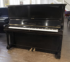 1943, Bechstein model 8 upright piano with a polished, black case