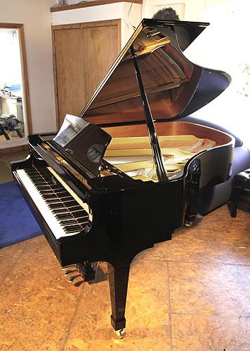 波士頓(Boston)型號GP 178 II 三角鋼琴,黑色外殼,盾形琴腿,配有自動緩衝鍵盤蓋,鋼琴有88個琴鍵和3個踏板,鋼琴由施坦威公司所設計