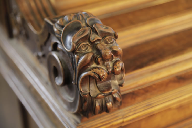 Ehret  carved, lions head detail