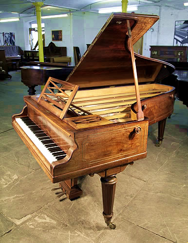 Piano for sale. An 1854, Erard No 2 Grand Piano For Sale with a Walnut Case and Brass Stringing Inlay