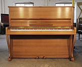 Piano for sale. A 1962, Grotrian Steinweg 120 upright piano with a polished, walnut case