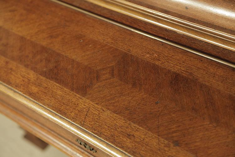 Steingraeber quartered walnut  piano fall