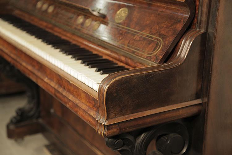 Steingraeber carved piano cheek detail
