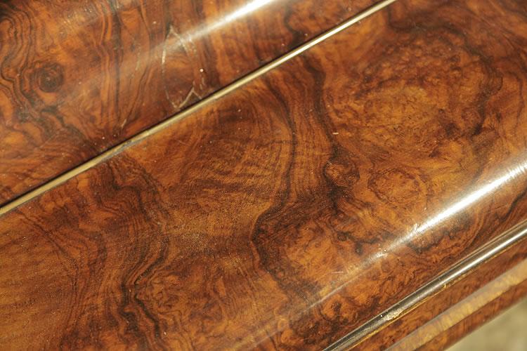 Steingraeber  burr walnut wood grain detail