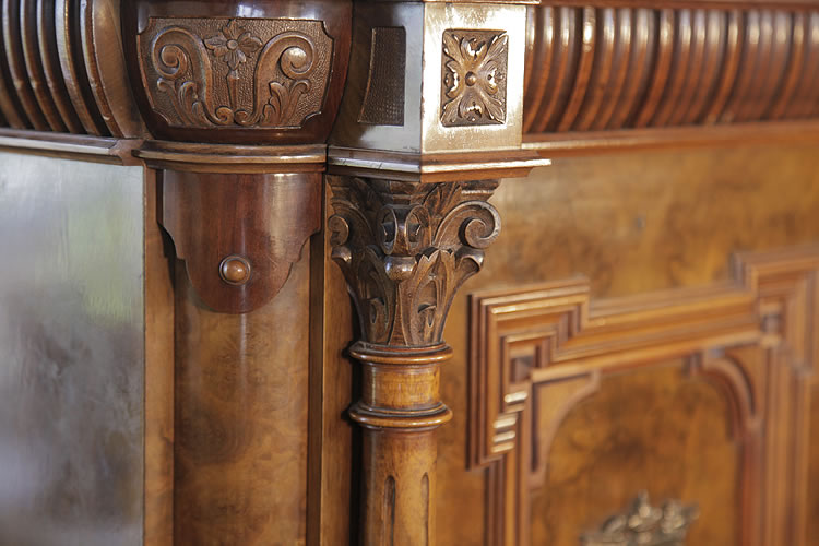 Steingraeber carved Corinthian pilaster detail