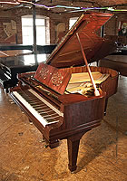 A Rebuilt, 1921, Steinway & Sons Model O Grand Piano For Sale with a Rosewood Case and Floral, Cut-Out Music Desk