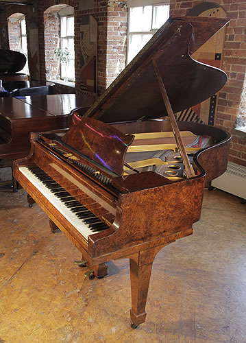 Steinway model o grand piano for sale with a burr walnut for Big grand piano