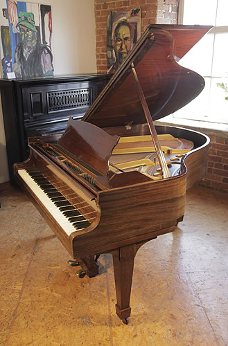 An unrestored, 1937, Steinway Model S Baby Grand piano for sale with a mahogany case and spade legs
