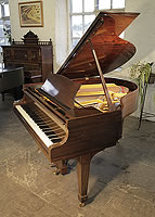 A 1938, Steinway Model S baby grand piano for sale with a mahogany case and spade legs