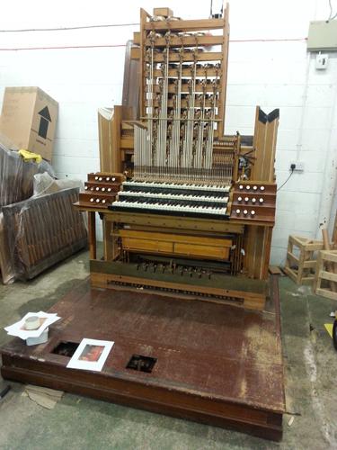 Assembling the organ.