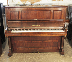 A 1923, Bechstein model 9 upright piano with a rosewood case