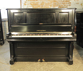 A 1901, Bechstein model III upright piano with a black case