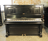 Piano for sale. A 1901, Bechstein model III upright piano with a black case