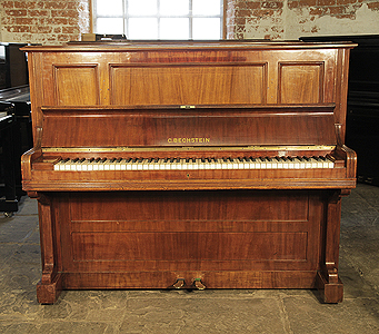 A 1901, Bechstein model IV upright piano with a mahogany case and stringing inlay