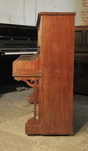 Bechstein Model Iv Upright Piano With A Mahogany Case And