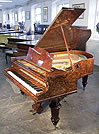 Piano for sale. An 1882, Bechstein Model V Grand piano for sale with a burr walnut case and turned legs
