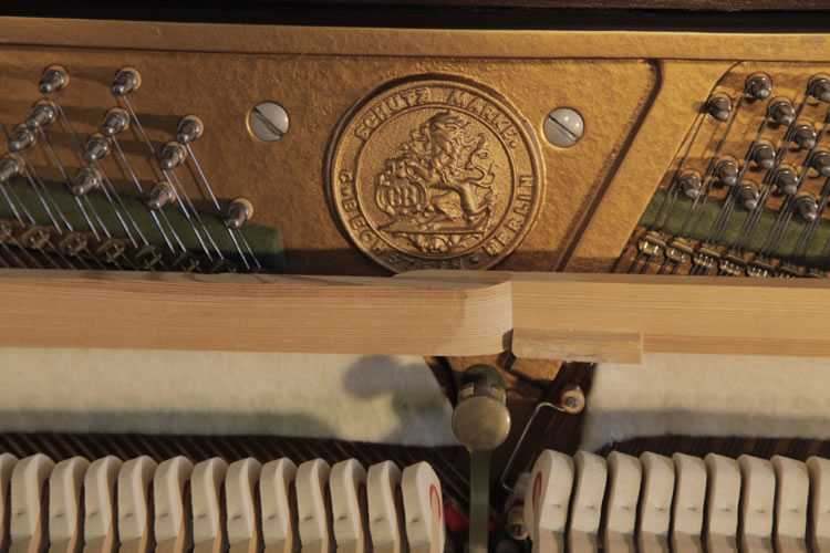 Bechstein Upright Piano With A Walnut Case Modern