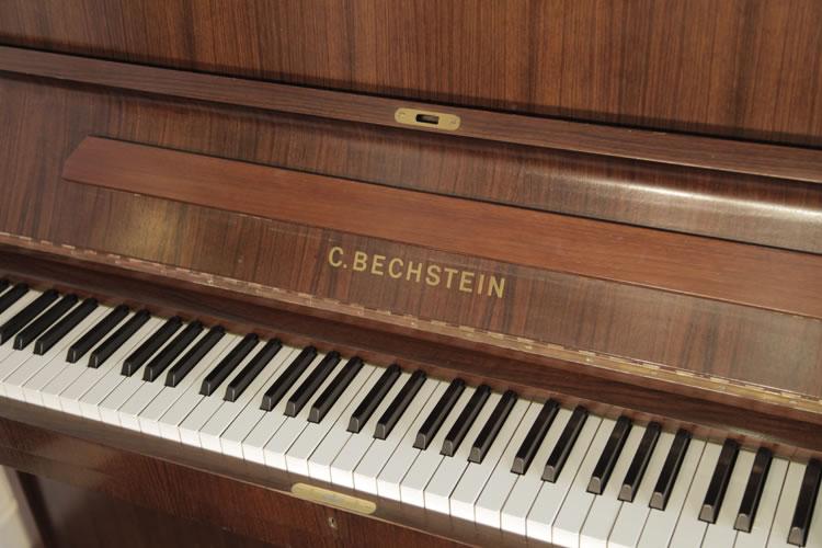 Bechstein Upright Piano With A Walnut Case Modern