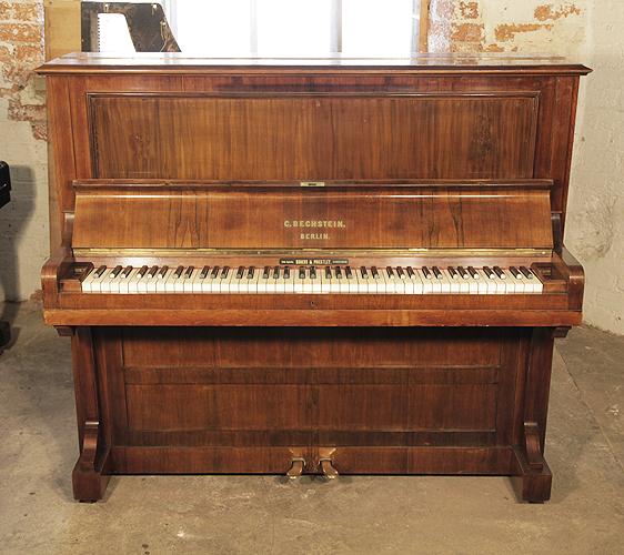 貝希斯坦(Bechstein)立式古董鋼琴,產於1890年,紅木外殼,鋼琴有85個琴鍵和2個踏板