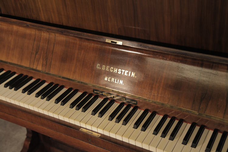 Bechstein Upright Piano With A Rosewood Case Antique