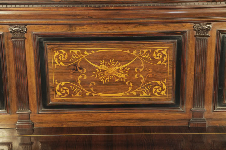Broadwood inlaid front panel featuring musical instruments