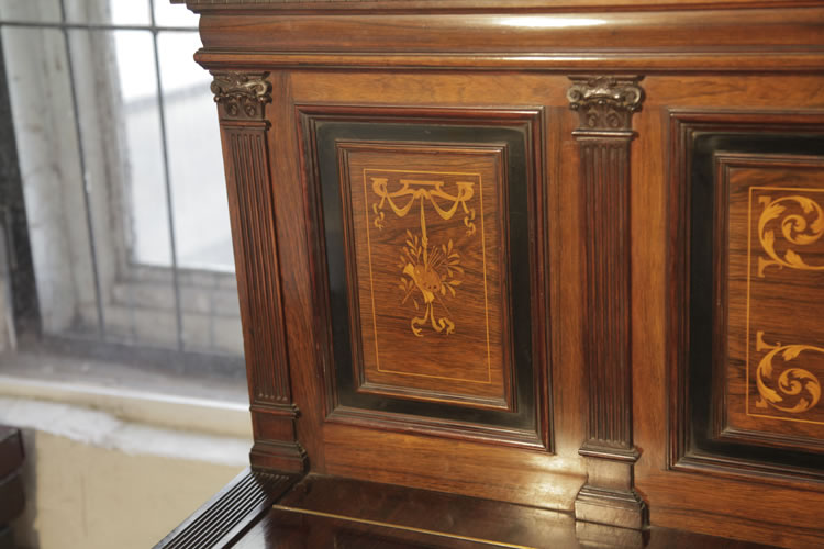 Broadwood inlaid front panel with pilaster
