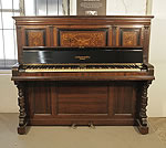 Piano for sale.An 1891, Broadwood 4D cottage upright piano with a rosewood case with inlaid panels. Formerly the property of Queen Victoria