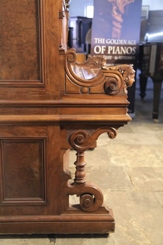 Ehret carved piano leg and cheek detail