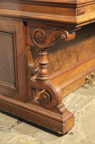 Ehret turned piano leg with reverse scroll detail