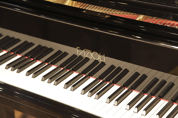 Fazioli F183 Grand Piano For Sale With A Black Case And