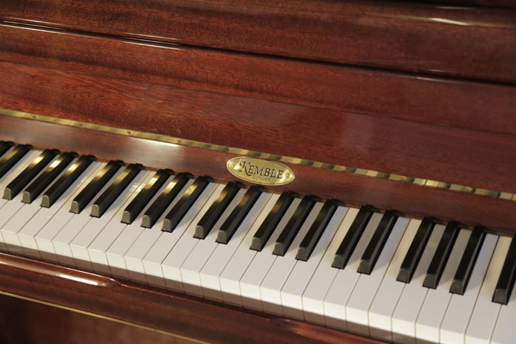 A Kemble Upright Piano For Sale With A Mahogany Case And