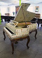 A unique, 1893, Pleyel grand piano hand-painted in Berainesque style. Signed by G. Meunier