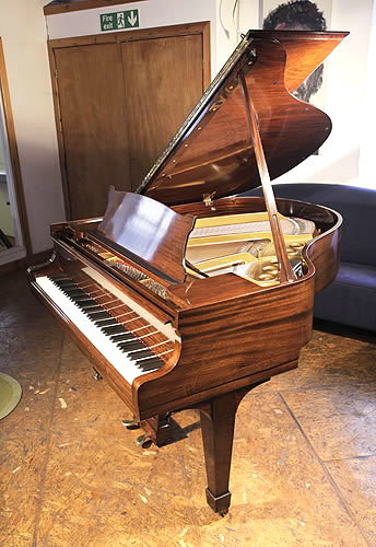 A  1937, Steinway Model S Baby Grand piano for sale with a mahogany case and spade legs