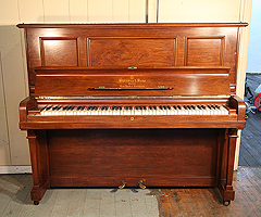 A 1913, Steinway vertegrand upright piano for sale with a rosewood case and  fitted PianoDisc QuietTime GT-2 mini system