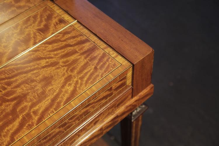 Steinway inlaid  cabinet detail
