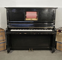 A 1922, Steinway Welte pianola with a polished, black case. Instrument is restored. Comes with over 90 rolls.